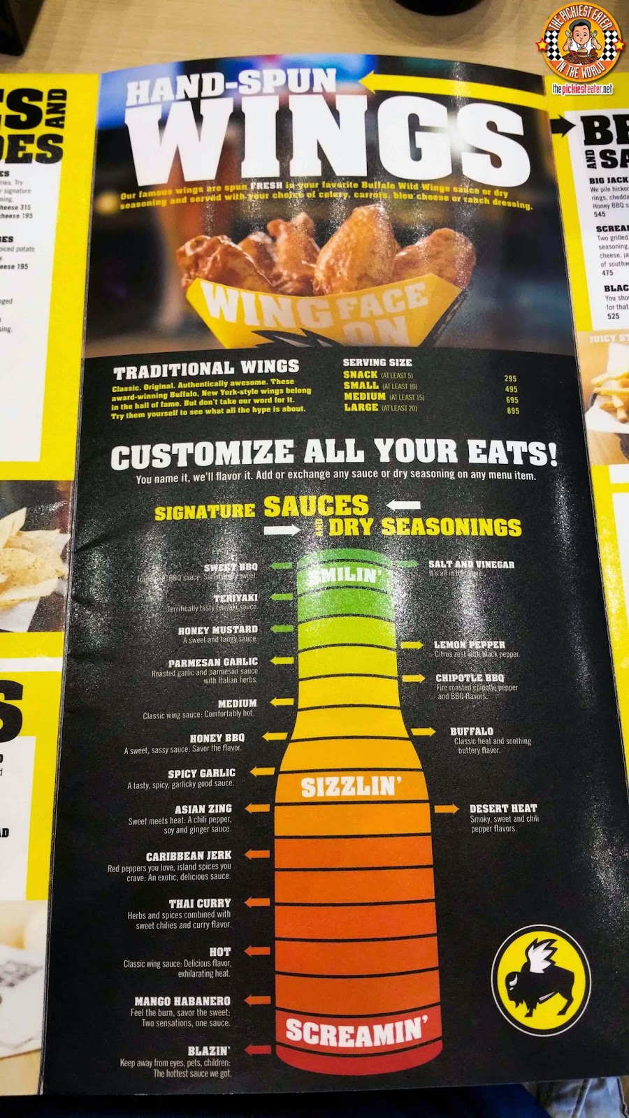 the pickiest eater in the world: going wild at buffalo wild wings