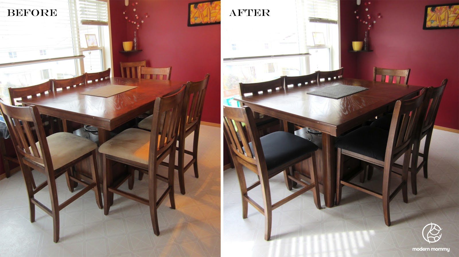 Reupholster a dining