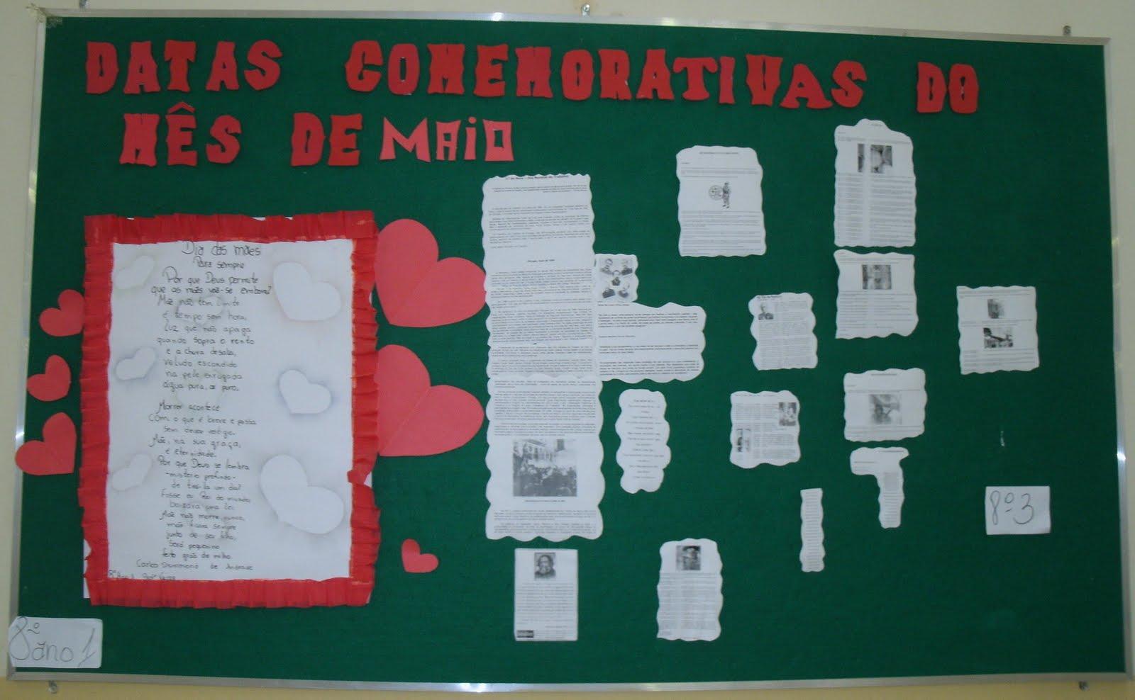 Mural: Datas Comemorativas | EMEB Prof. Ricardo Hoffmann