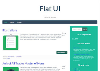 Flat UI Responsive Blogger Template Download Review