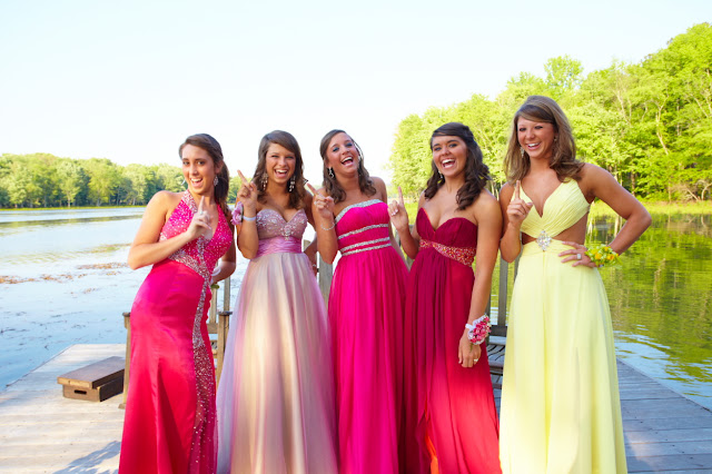 Bright color prom dresses