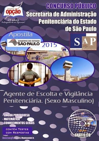Apostila Agente de Escolta Concurso Público da SAP - Penitenciária de São Paulo (SAP/SP)