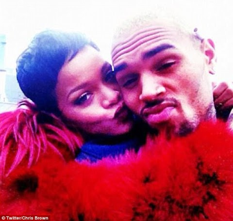 Does he want her back? Chris Brown posts loving picture taken with Rihanna just DAYS before their relationship came crashing down .