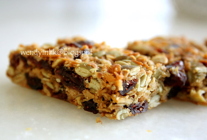 ... for 2.... or more: Pepita and Cranberry Granola Bars - Bars Week # 3