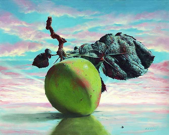 ◦˚ღ ســـجل حضــورك بــلوحه فنية ღ˚◦ Green-apple