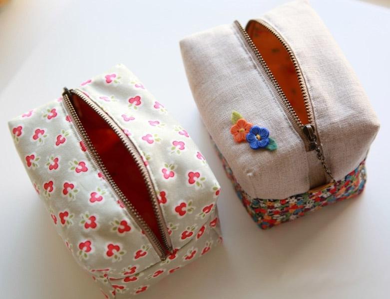 Comment faire joli bloc à glissière poche / sac à main.  tutoriel photo bricolage et motif de modèle.