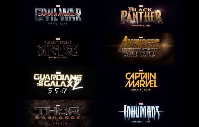 Datas de lançamento dos filmes da Marvel (Fase 3)