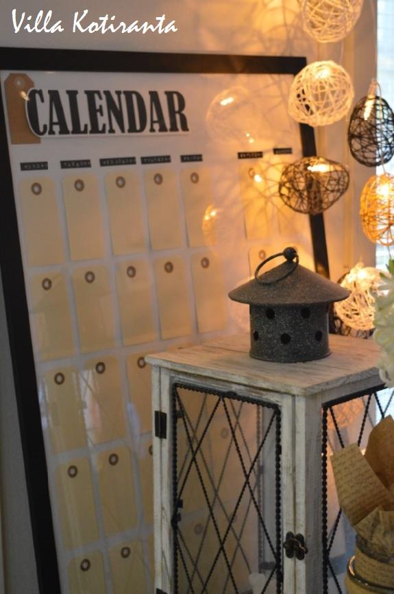 DIY: Seinäkalenteri