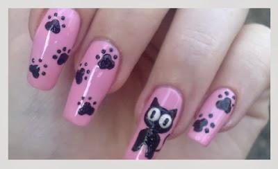 Como pintar unhas com desenhos de gatos