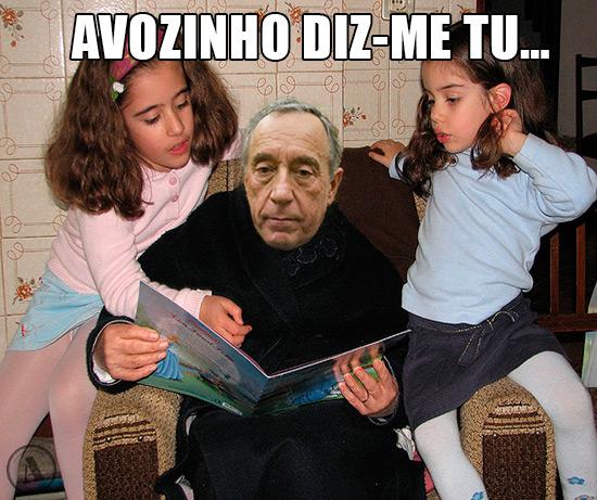Imagem de Marcelo Rebelo a ler histórias a crianças - Avozinho diz-me tu…