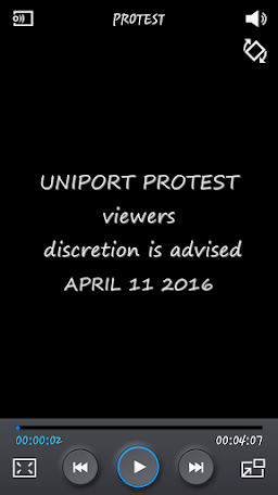 WATCH VIDEO OF UNIPORT STUDENTS PROTEST (APRIL 11)