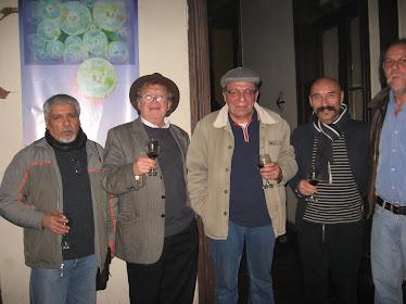 """En la exposición """"Los Aluminatos"""" de escultores de La Escuela de Bellas Artes de Valparaíso."""
