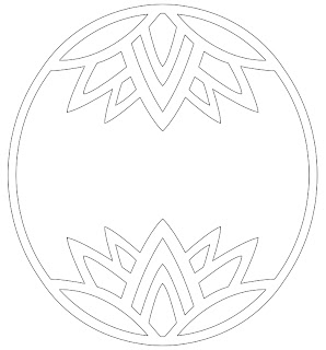 lotus free hand embroidery pattern