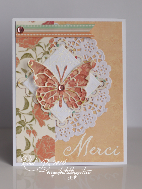 Scrapatout - Handmade card, Merci, Memory Box, Hero Arts, IO stamps