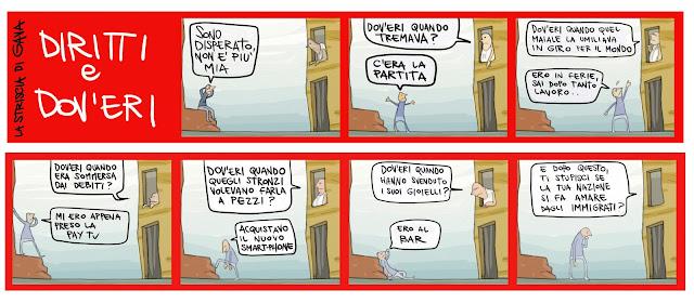 Gava Satira gavavenezia gavavenezia.it  la striscia del gava yanez pubblico immigrati Nazione