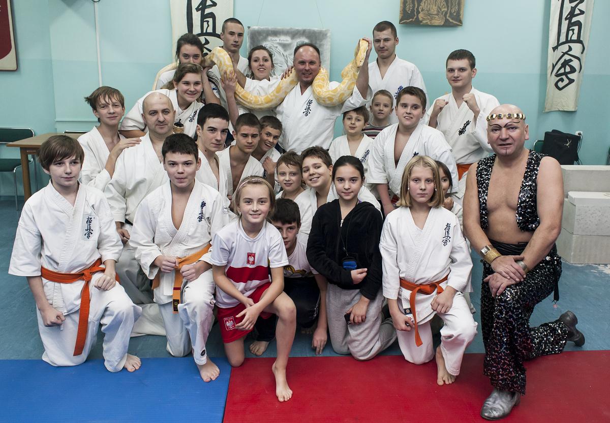 Pokaz Fakira Radamesa w Iławskim Klubie Kyokushin Karate