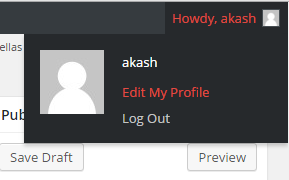 How to Enable Visual Editor in Wordpress: edit my profile.