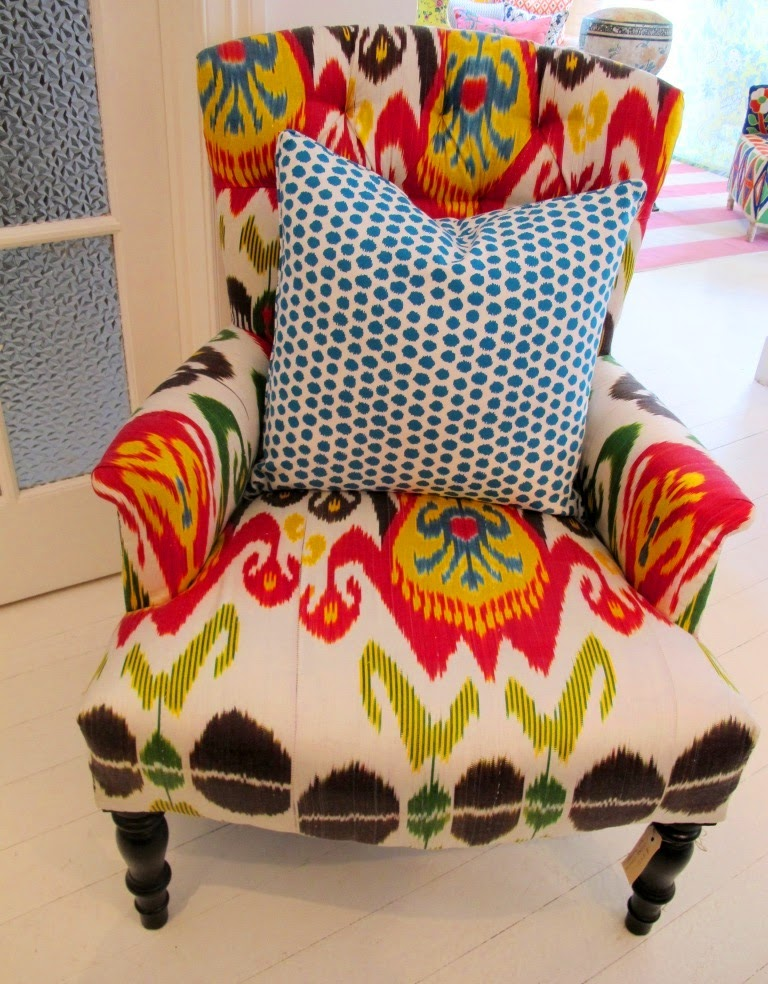 I Thought You Might Like To See Our Current Front Window Display At Black U0026  Spiro And Also A Fabulous New Ikat Armchair Which Arrived Last Week.