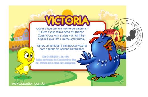 Papelier Papelaria Criativa Festa Da Galinha Pintadinha Da Victoria