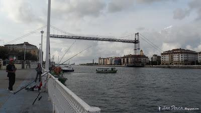 El famoso Puente Colgante, que une Portugalete y Las Arenas (Getxo)