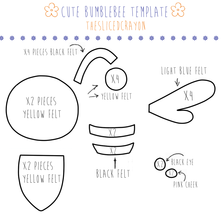 theslicedcrayons crafty blog template cute bumblebee