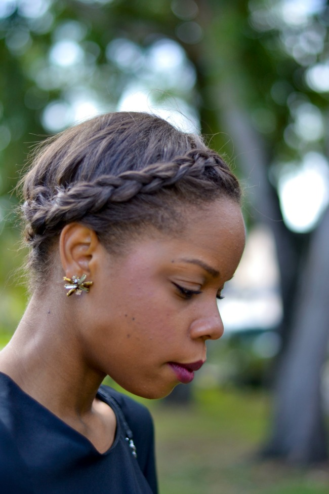Braided Crown with Side Part