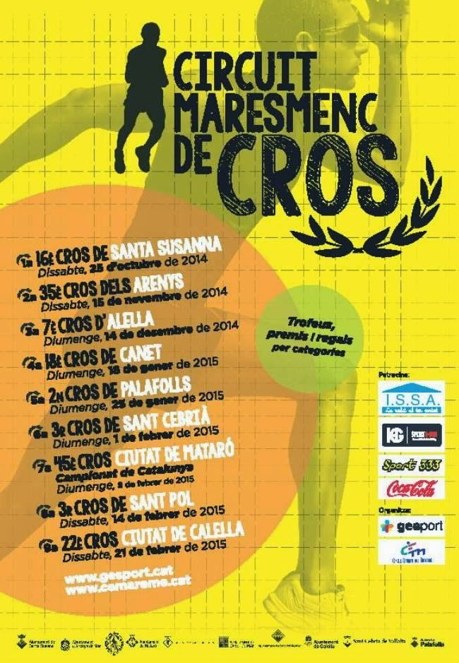 Cartel del Circuit Maresmenc de Cros. [Imagen: www.cemaresme.cat]