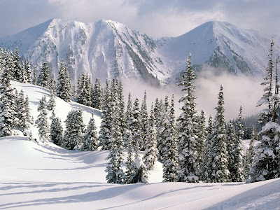 Ice Snowy Rocks Mountains HD Background Wallpapers Widescreen High Resolutions 007