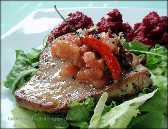 stek z tuńczyka, przepis na tuńczyka