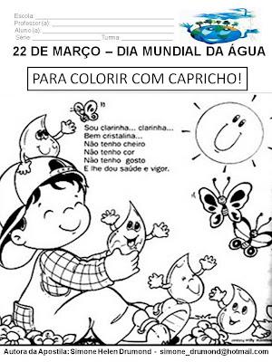 Dia Mundial da Água para Colorir