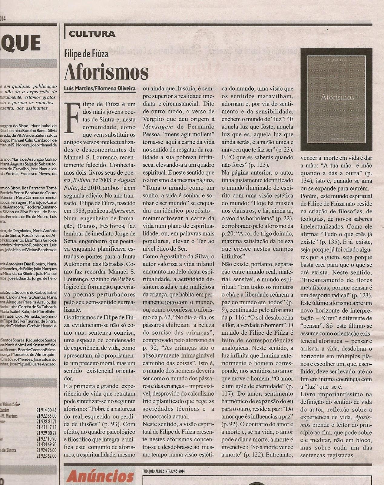 «Aforismos» (2013)