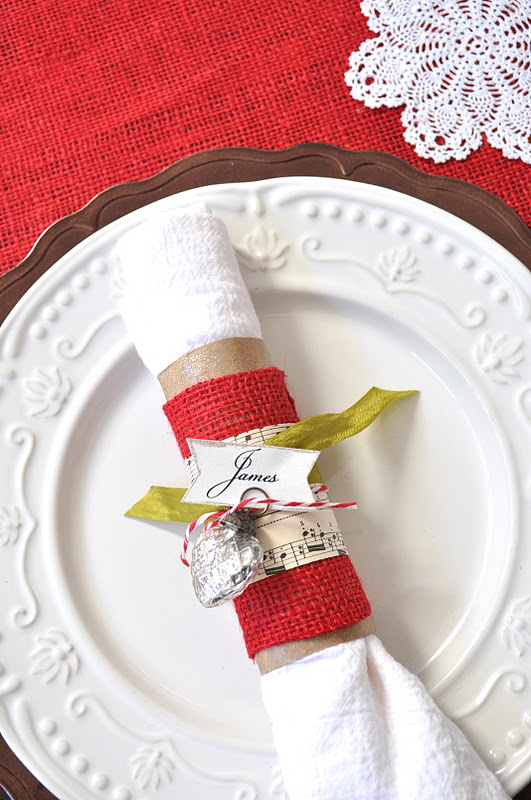 Christmas napkin rings and easy glass ornaments featured