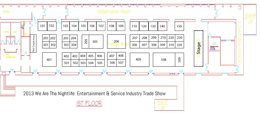 Informational floor plan finalized for we are the for Trade show floor plan