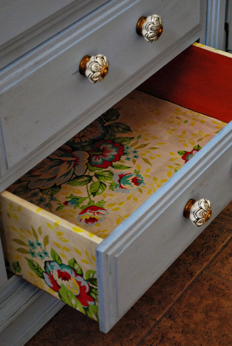Decoupage Inside Drawers