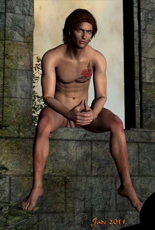 Male nude fantasy art ... now, that's beautiful.