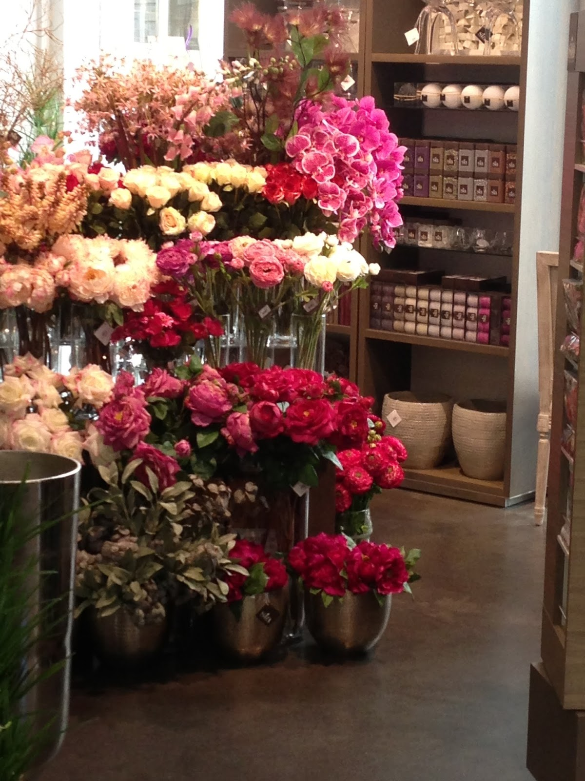Design guy day 2 maison objet paris a stores elaborate flower display lures us in only to find it is actually a florist that sells only silk flowers so real that yes we had to touch them mightylinksfo