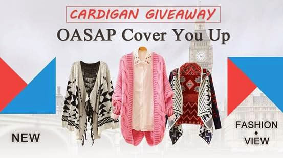 oasap cardigan giveaway- vince maria fiengo