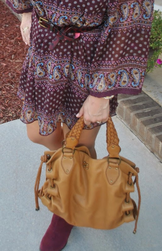 ankle boots boho dress for fall
