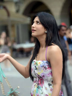 Shruthi Hassan Looks cute from new movie Kiss in flower print cute gown Stunning Beauty