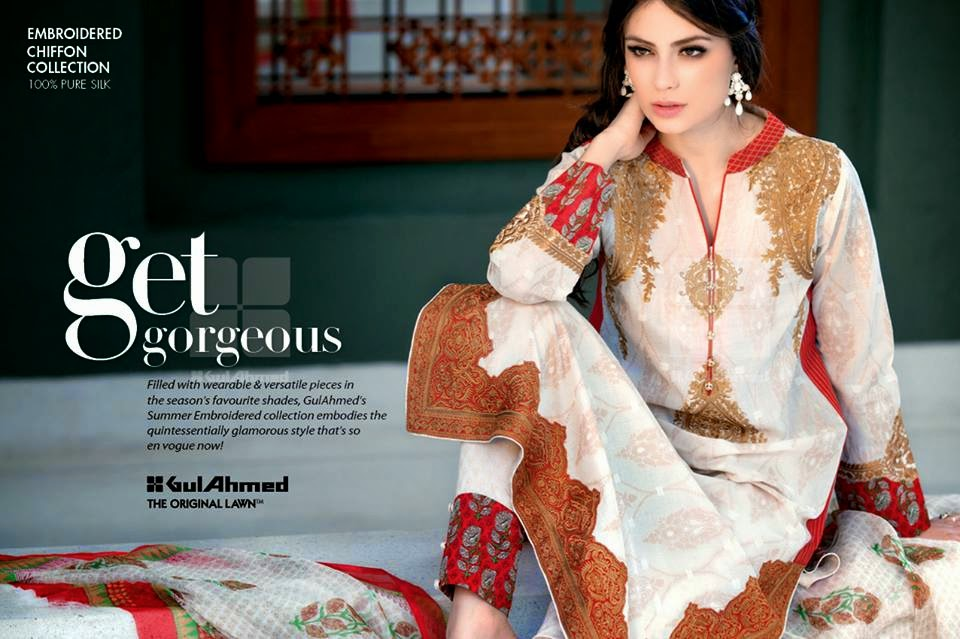 GulAhmedNewCollection wwwfashionhuntworldblogspot 3  - Gul Ahmed Summer Dresses Collection 2014-2015