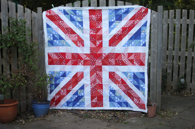 Union Flag Quilt Hanging