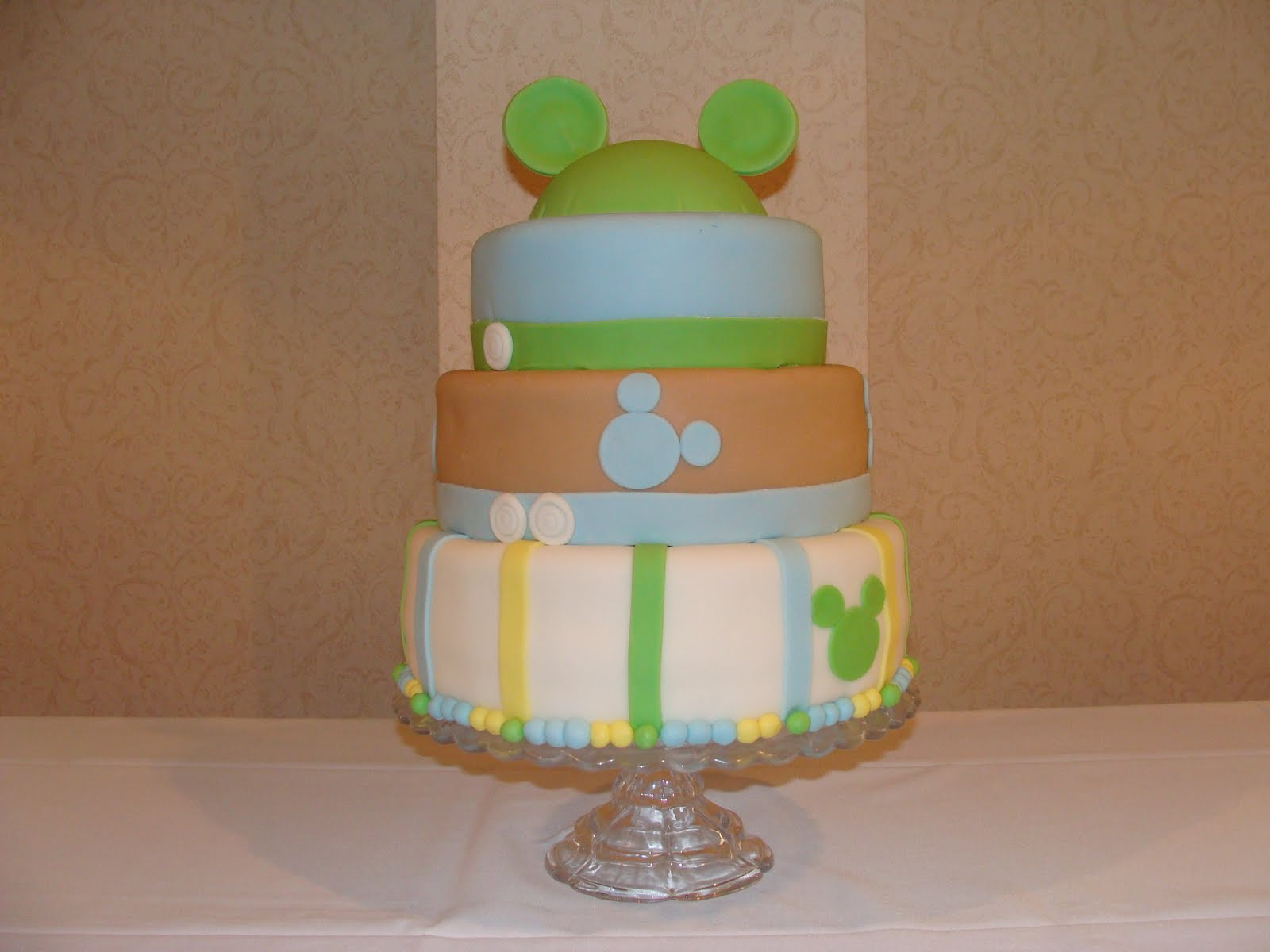 Mickey Mouse Baby Shower Cake Images : * MI SWEET CAKES *: Mickey Mouse Baby Shower Cake