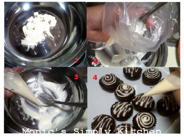 Proses topping pembuatan chocolate truffle