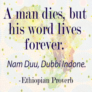 A man dies, but his word lives forever.