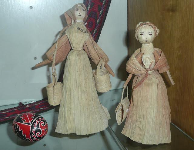Corn Dolls in Pysanka Museum Western Ukraine