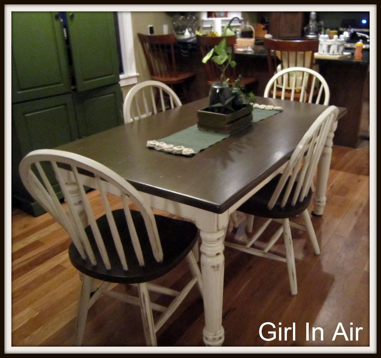 Girl in Air BLOG Staining and Distressing a Table and Chairs
