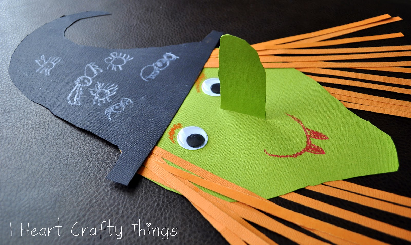 witch craft - Halloween Crafts Construction Paper