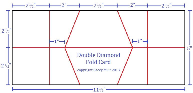 beccy 39 s place tutorial double diamond fold card. Black Bedroom Furniture Sets. Home Design Ideas