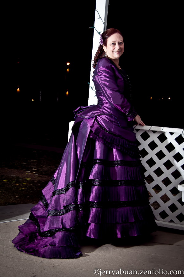 the broke costumer my first victorian dress 1872 purple
