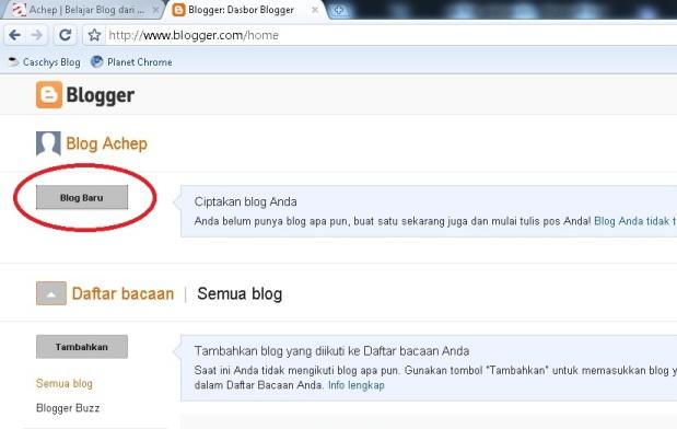 Cara Membuat Blog di Blogger/Blogspot - Achep | PNS go Blog